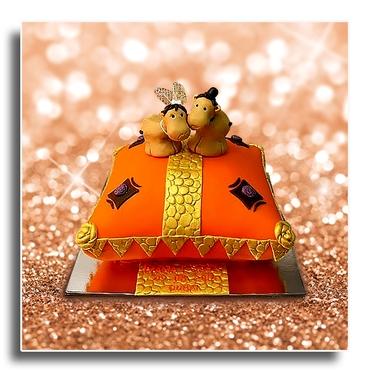 Orange wedding cakes