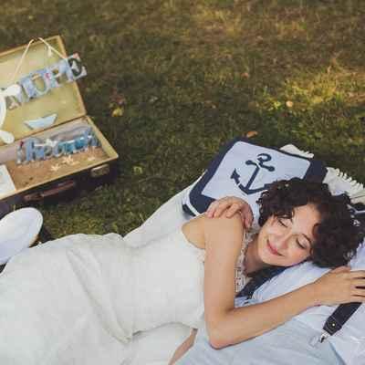 Marine blue real weddings