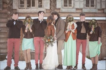 Winter green real weddings