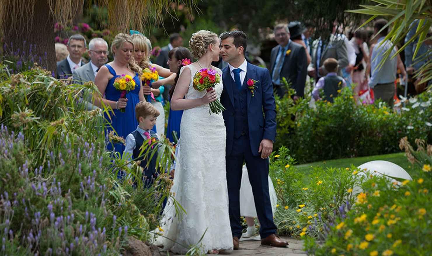Outdoor summer ivory long wedding dresses