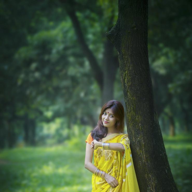 Outdoor model shoot