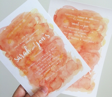 Orange wedding invitations