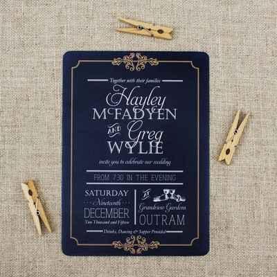 Black wedding invitations