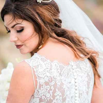 Outdoor bridal hair and make-up