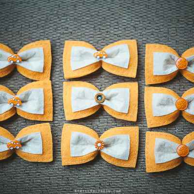 Orange photo session decor