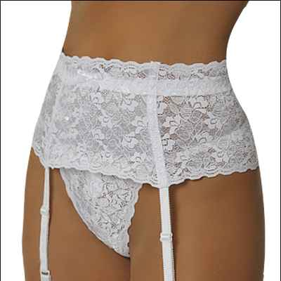 White wedding lingerie