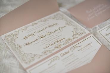 White wedding invitations