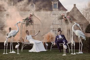 Themed white long wedding dresses