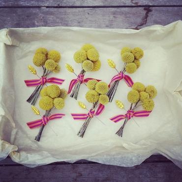 Yellow buttonhole