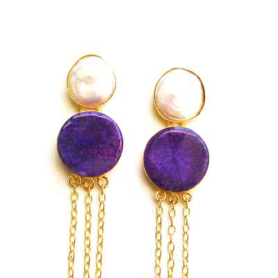 Purple bracelets, earrings, necklaces & other jewellery