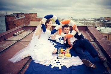 Marine orange real weddings