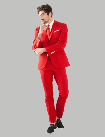 Red groom style