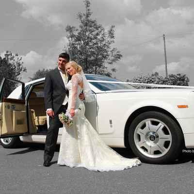 European white wedding transport