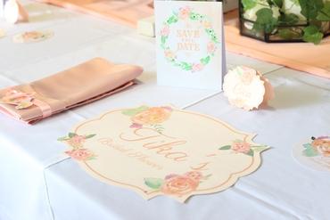 Overseas pink wedding reception decor
