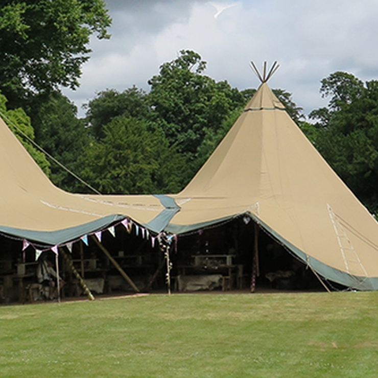 Teepee on the North Lawn at Dorney Court