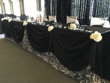Overseas black wedding reception decor