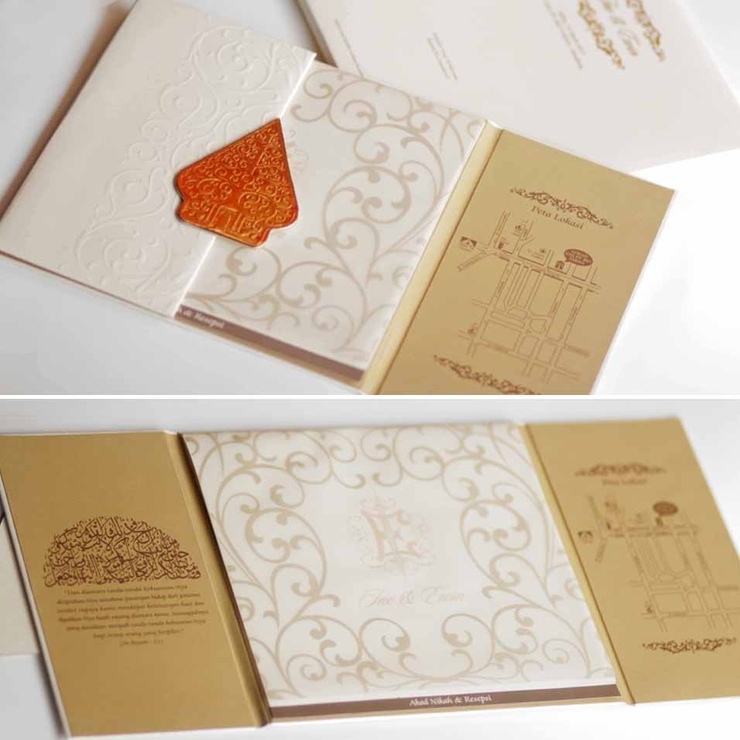 ewin & ine wedding invitation