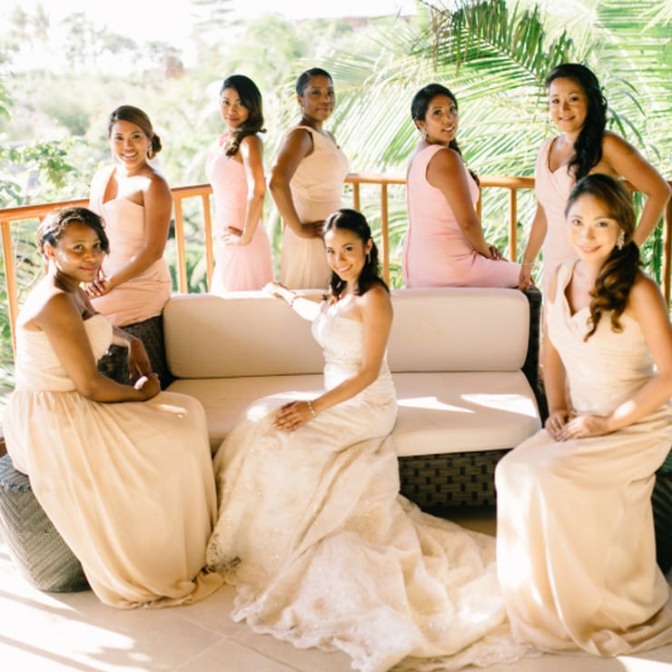 Bridal and entourage gowns