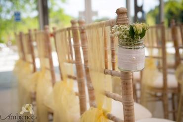 European white wedding floral decor