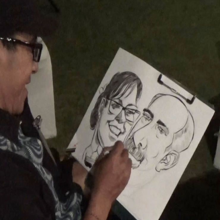 Live Caricature on the Event