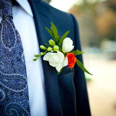 Orange groom style
