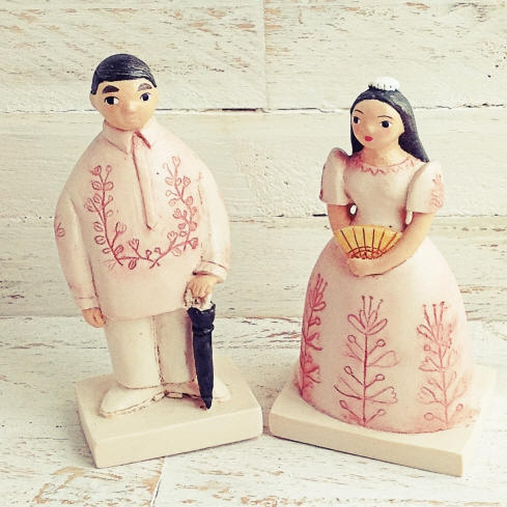 Filipiniana Wedding Cake Topper