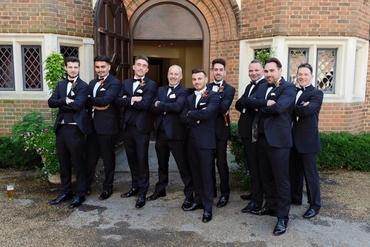 Outdoor black groom style