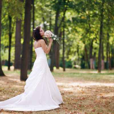 Autumn open wedding dresses