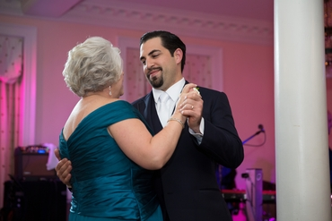 Overseas blue wedding guests