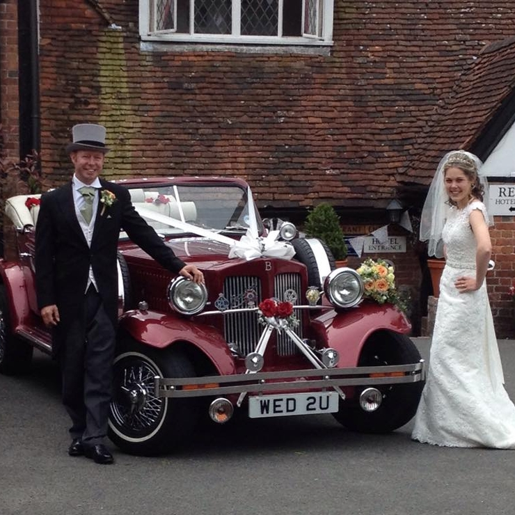 Some of our lovely brides with our classic cars