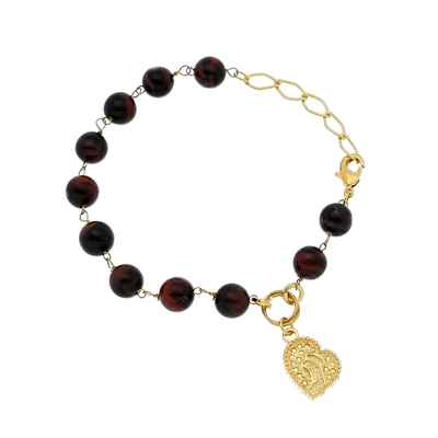 Brown bracelets, earrings, necklaces & other jewellery