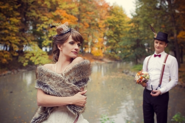 English brown bridal style