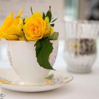 Yellow wedding floral decor