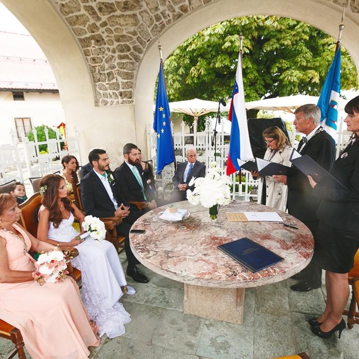 Rania & Jad's wedding at Lake Bled, Slovenia; Photos: Uroš Čuden
