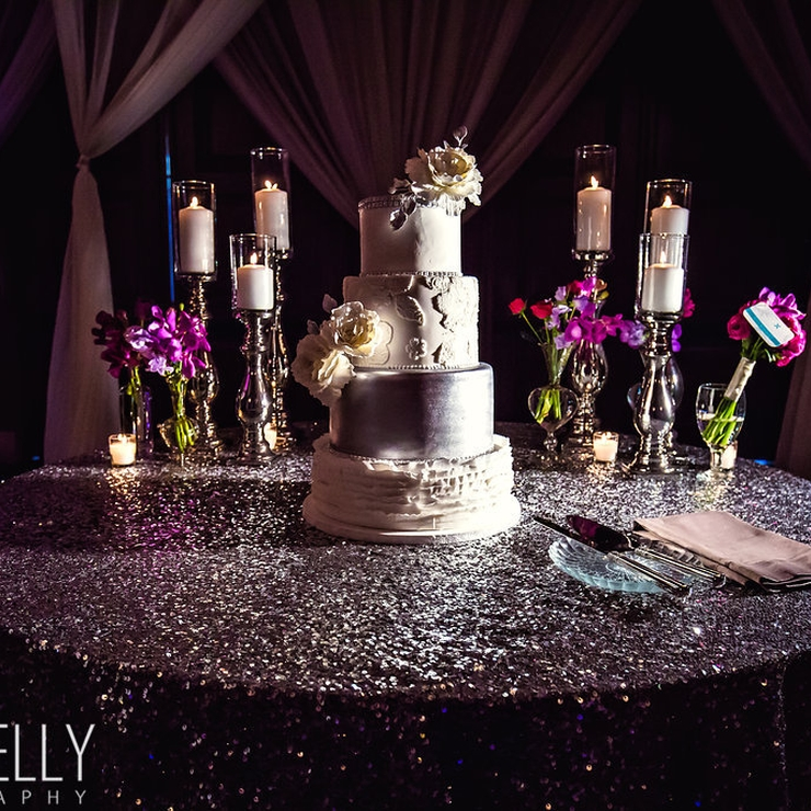 Purple and Silver Glam Wedding