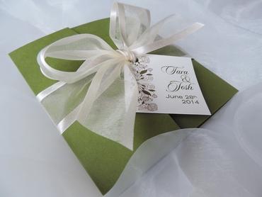Green wedding invitations