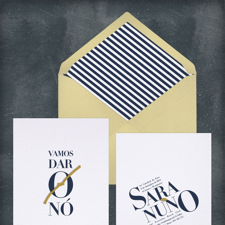 Sara and Nuno's Wedding Invitation