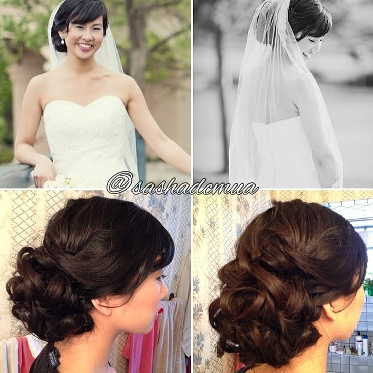 Wedding updos and makeup
