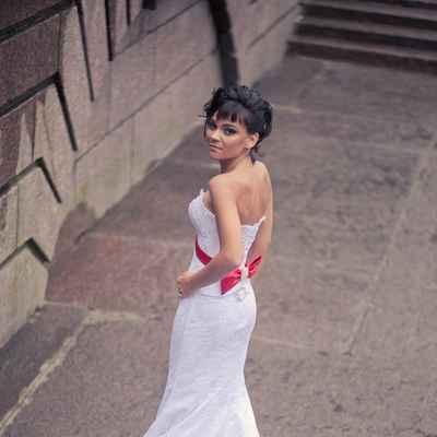Red mermaid wedding dresses