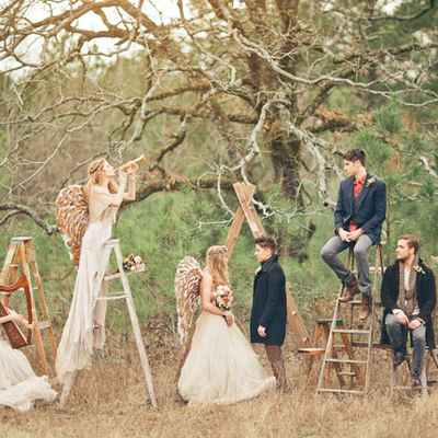 Themed ivory real weddings