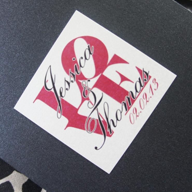 Z-Card Wedding Invitation Set