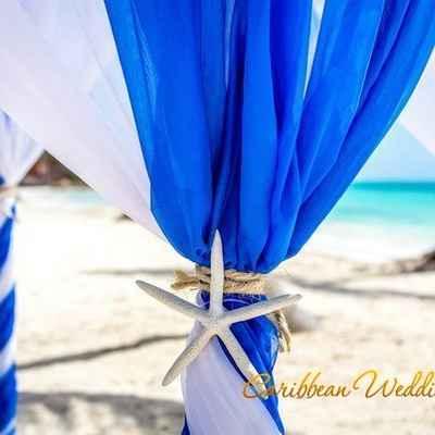 Marine wedding ceremony decor