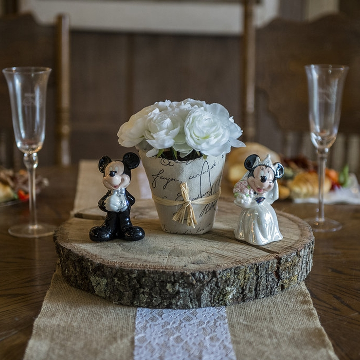 Curtis + Sarah Rustic Barn Wedding with Disney Touches