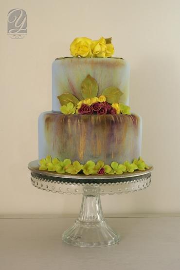 Grey wedding cakes