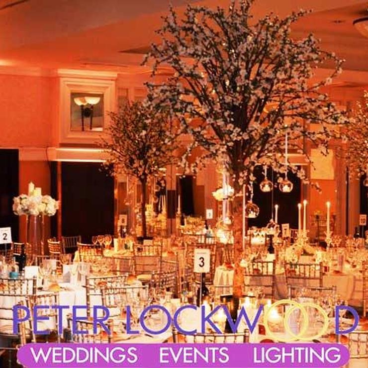 Gold Wedding Lighting