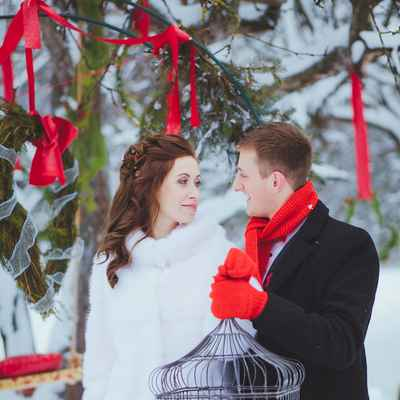 Winter red real weddings