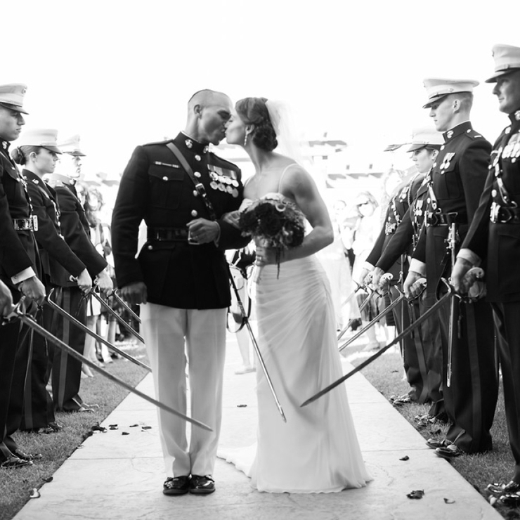 Military-Jewish wedding fall