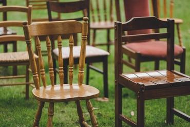 Outdoor brown wedding ceremony decor