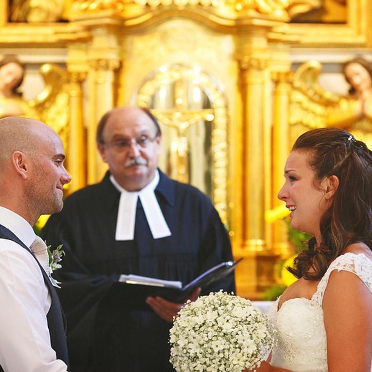Alexandra and James' wedding at Lake Bled, Slovenia; Photos: Uroš Čuden