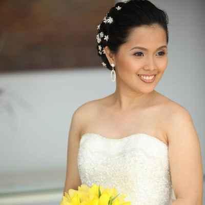 Overseas yellow orchid wedding bouquet
